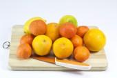 Oranges isolated on white background — Stock Photo