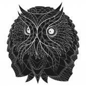 Owl tatoo. — Stock Vector