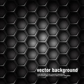 Geometric pattern of hexagons. Metal background. — Stock Vector