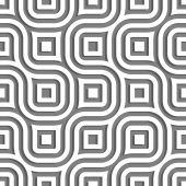 正方形と流れるようなラインのシームレスな幾何学的なパターン. — ストックベクタ