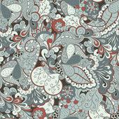 Mehendi tracery pattern, Seamless, handmade Natural mood — Stock Vector