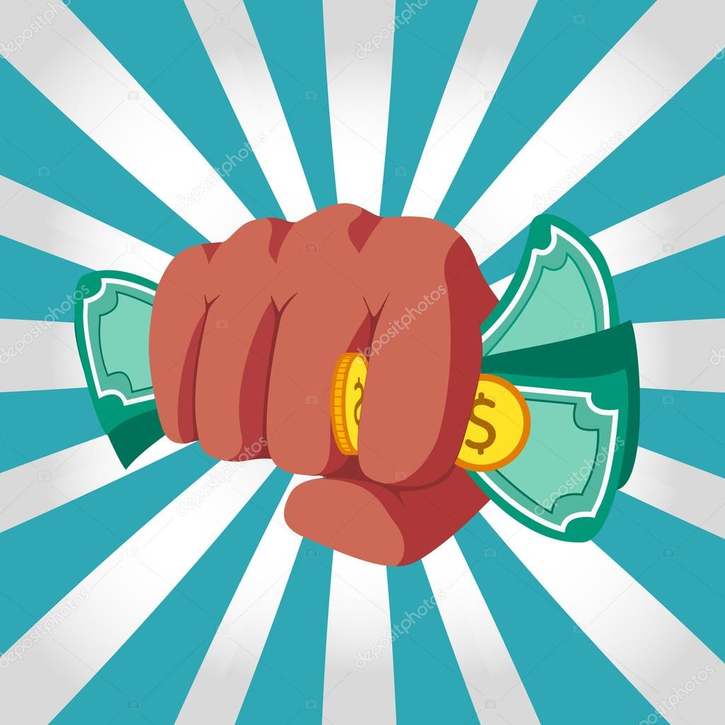 钱矢量的冲床拳头 — 图库矢量图像08