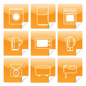 Icons of kitchen equipment 2 — Stock Vector