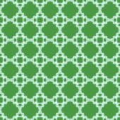 Vector illustration with green seamless geometric pattern — Stock Vector