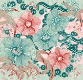 Abstract floral background. Vector abstract flowers  — Vector de stock
