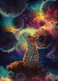 The little Prince. The fox — Stock Photo