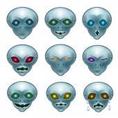 Smiley grey aliens — Stock Vector