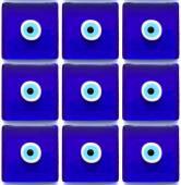 Evil eye beads pattern — Stock Photo