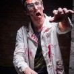 ������, ������: Crazy walking dead man in glasses