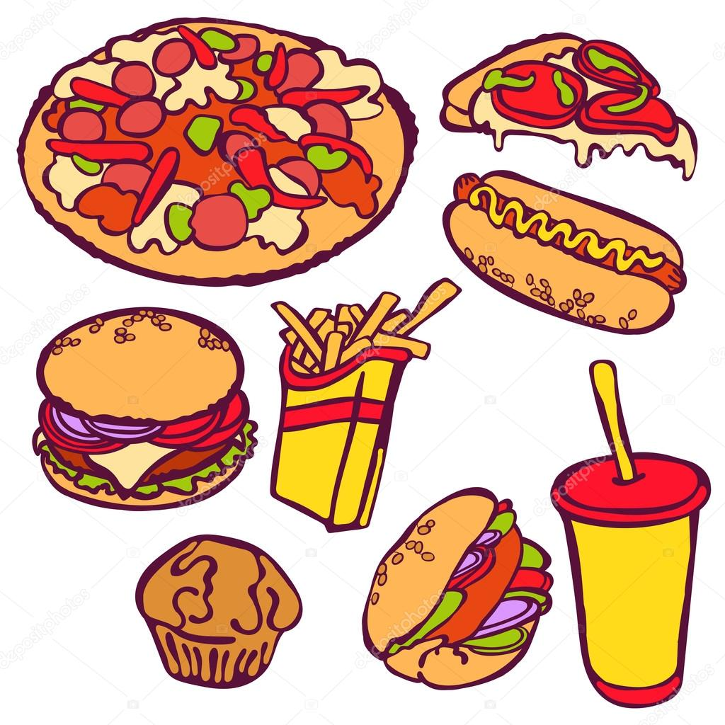 fast food vector illustration which shows hamburger