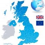 Vector Map Set of United Kingdom — Stock Vector #74918963