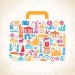 Vector Travel luggage concept — Stock Vector #76790605