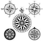 Compass Rose Set — Stock Vector