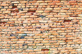 Colorful old bricks wall texture with nicks — Stock Photo