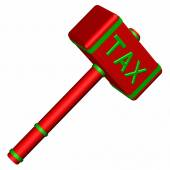 Hammer with word Tax — Stock Photo