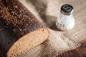 Bread and salt — Stock Photo