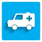 Ambulance car icon — Stock Vector