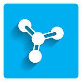 Molecule icon — Stock Vector