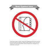 No personal organizer icon — Stock Vector
