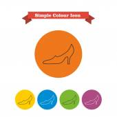 High heel shoe icons — Stock Vector