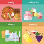 Festive eating — Stock Vector