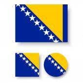 Bosnia and Herzegovina flag — Stock Vector