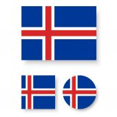 Iceland flag — Stock Vector