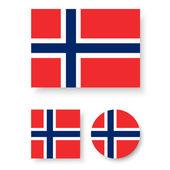 Bandeira da noruega — Vetor de Stock