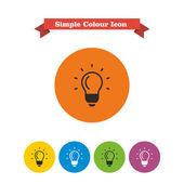 Glowing bulb — Stock Vector