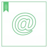 Email sign — Stock Vector