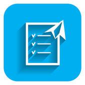 Checklist and paper plane — Stock Vector