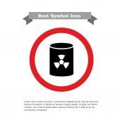 Nuclear waste barrel — Stock Vector