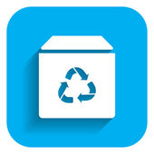 Recycling box icon — Stock Vector