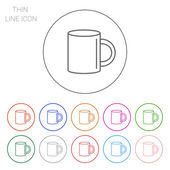 Mug icon — Stock Vector
