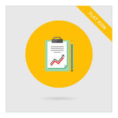 Document met grafiek en potlood — Stockvector