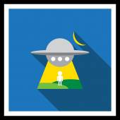 Abduction by UFO — Stock Vector
