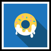 Doughnut icon — Stock Vector