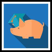 Ahorrar dinero para la educación — Vector de stock