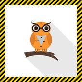 Owl icon — Stock Vector