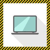 Open laptop icon — Stock Vector
