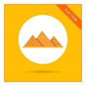 Giza pyramids icon — Stock Vector