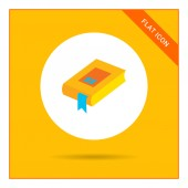 Icon of book with blue bookmark — Stock Vector
