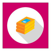 Books stack icon — Stock Vector