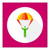 Parachute icon — Stock Vector