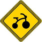子供自転車 — ストックベクタ