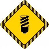 Fluorescent lamp — Stock Vector