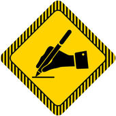 Pisząca ręka — Wektor stockowy