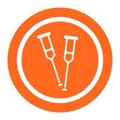 Crutches icons — Stock Vector