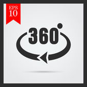 Angle 360 degrees sign — Stock Vector