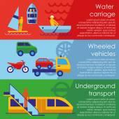 Tipi di trasporto — Vettoriale Stock